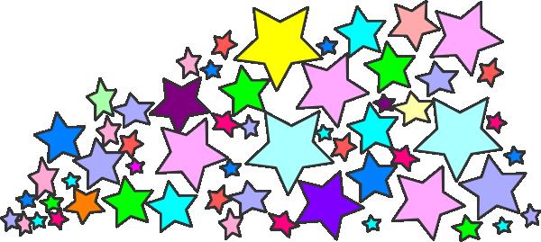 600x269 Falling Stars Clipart Star Cluster