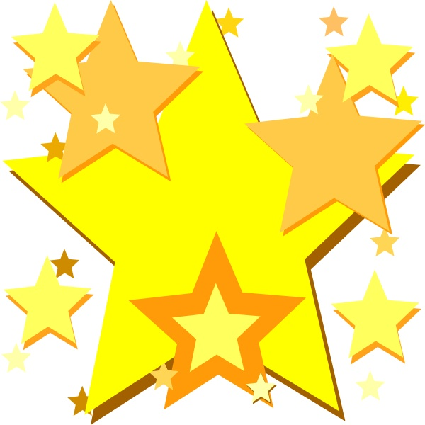 600x600 Free Gold Star Clipart Pictures