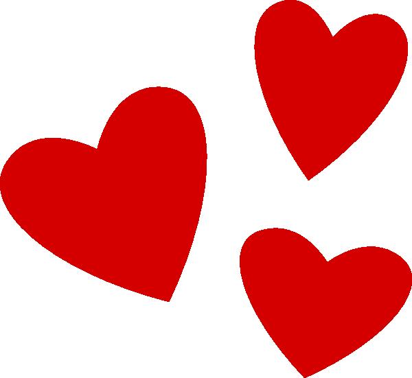 600x551 Heart Cluster Clip Art