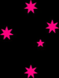 228x299 Pink Stars Clip Art