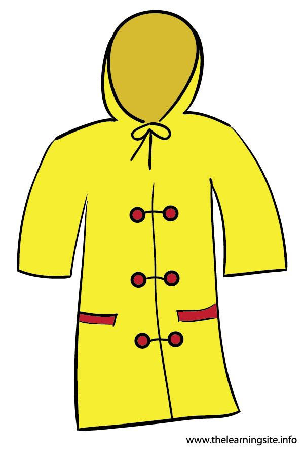 600x900 Yellow Raincoat Clipart