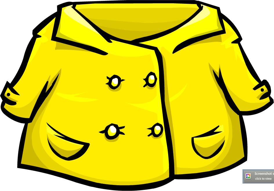 945x659 Coat Clipart Yellow Raincoat