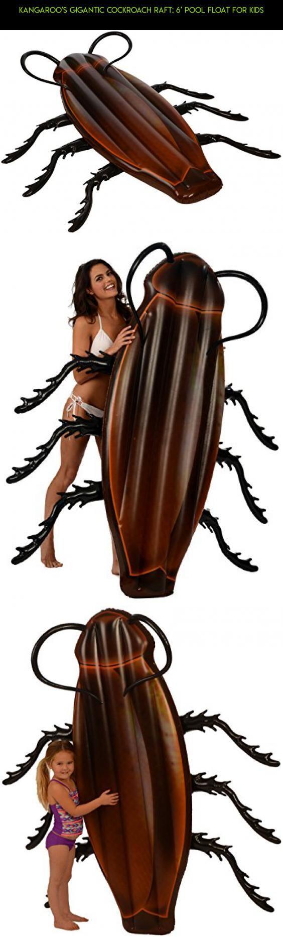 564x1866 Kangaroo's Gigantic Cockroach Raft 6' Pool Float For Kids
