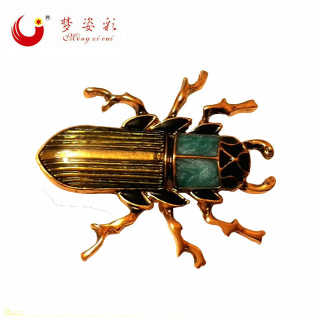 640x640 Mzc Vintage Jewelry Enamel Esmalte Beetle Insect Brooch Gold Metal