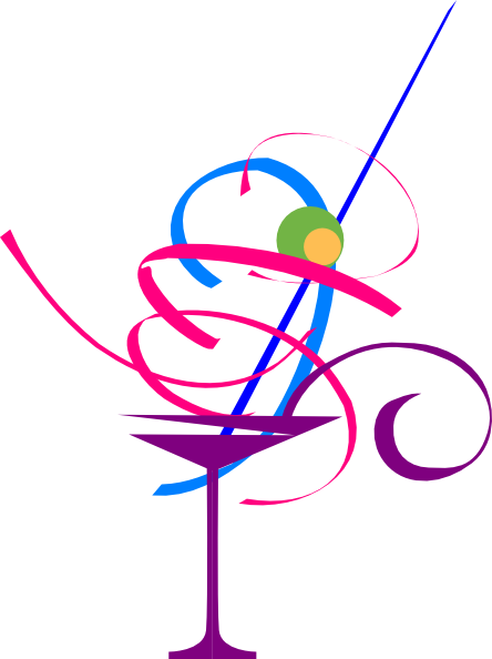 444x594 Colourful Cocktail Clip Art
