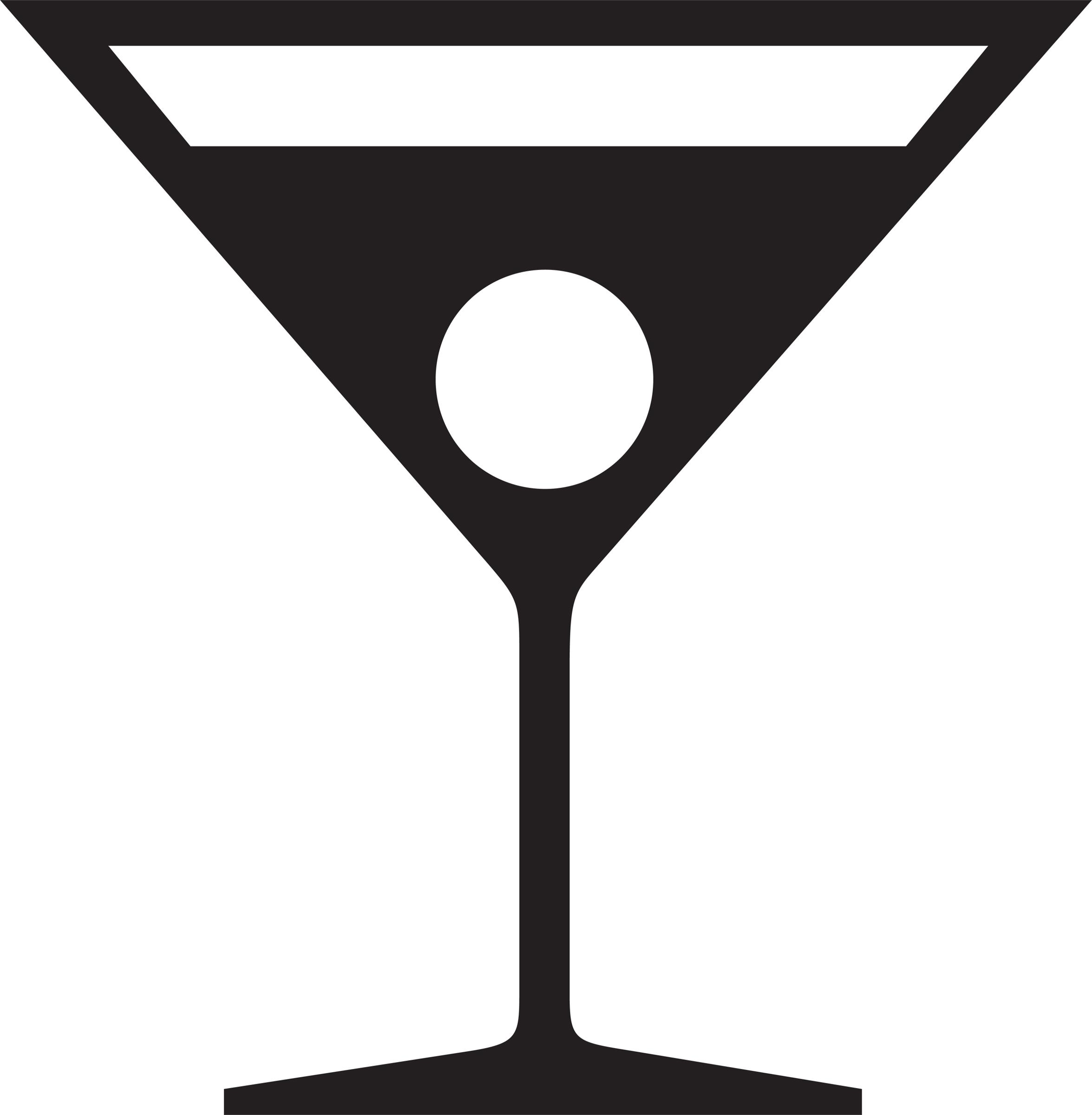 2351x2400 Margarita Cocktail Glass Clipart