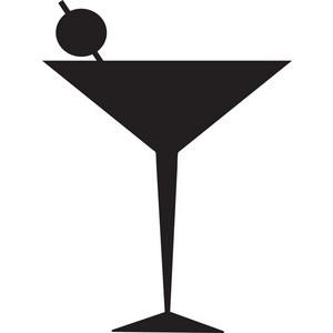 300x300 Martini Glass Cocktail Glass Clip Art Image