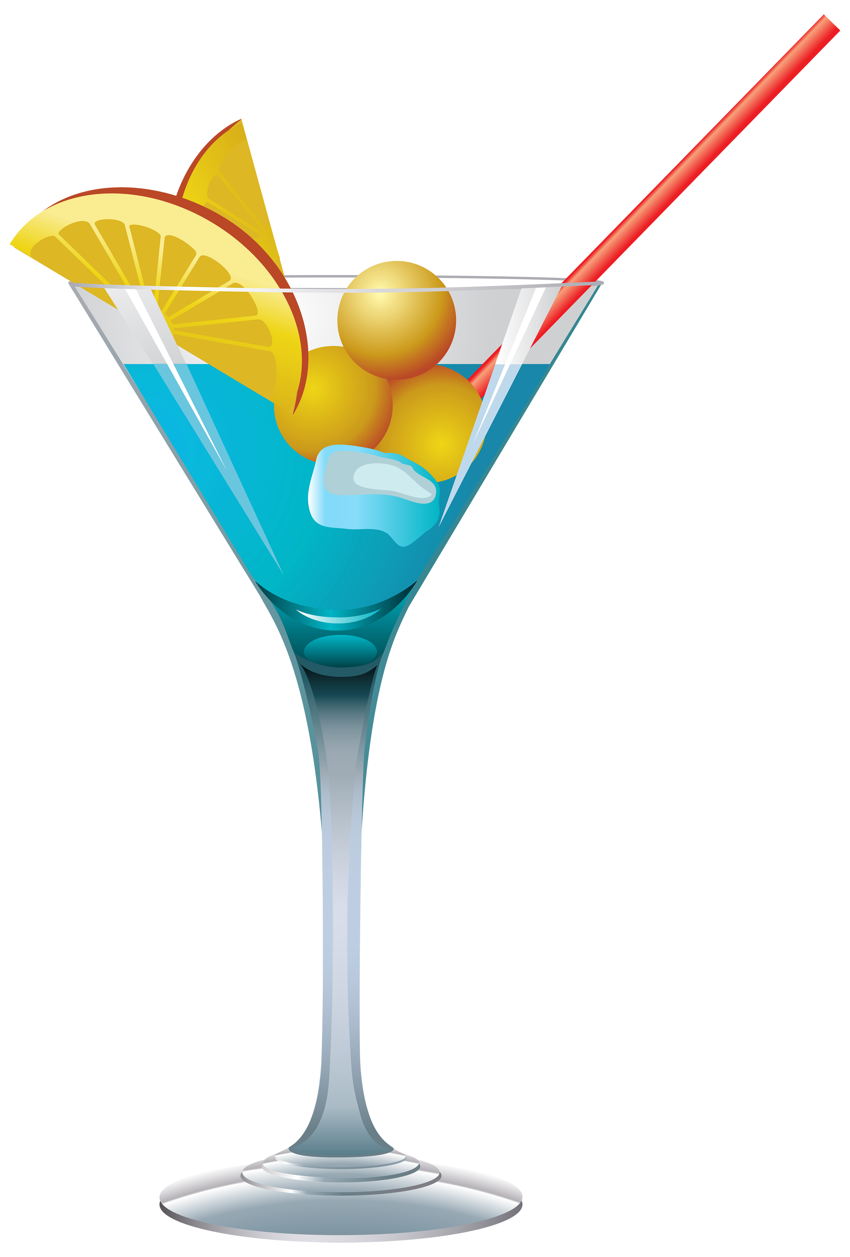 2706x4000 Blue Cocktail Png Clipart