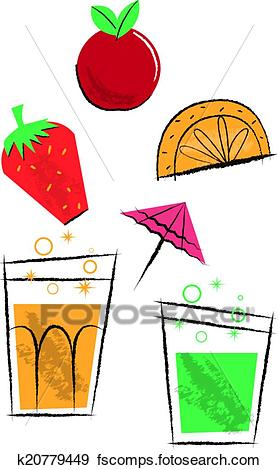 278x470 Clip Art Of Cocktail Drinks And Fruit Children's Illustrations