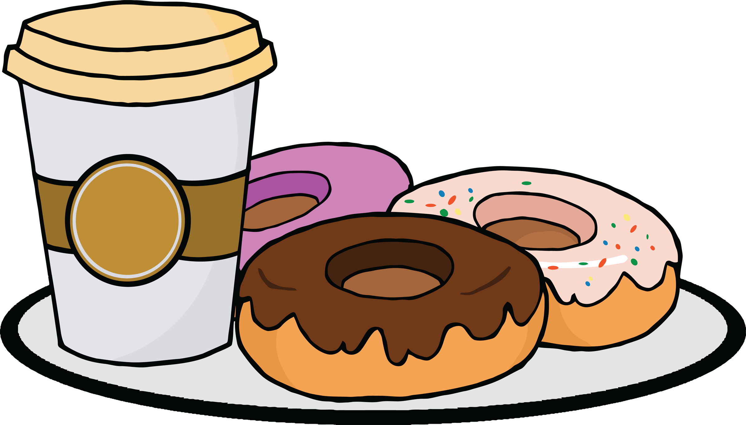 Coffee And Donuts Clipart | Free download on ClipArtMag