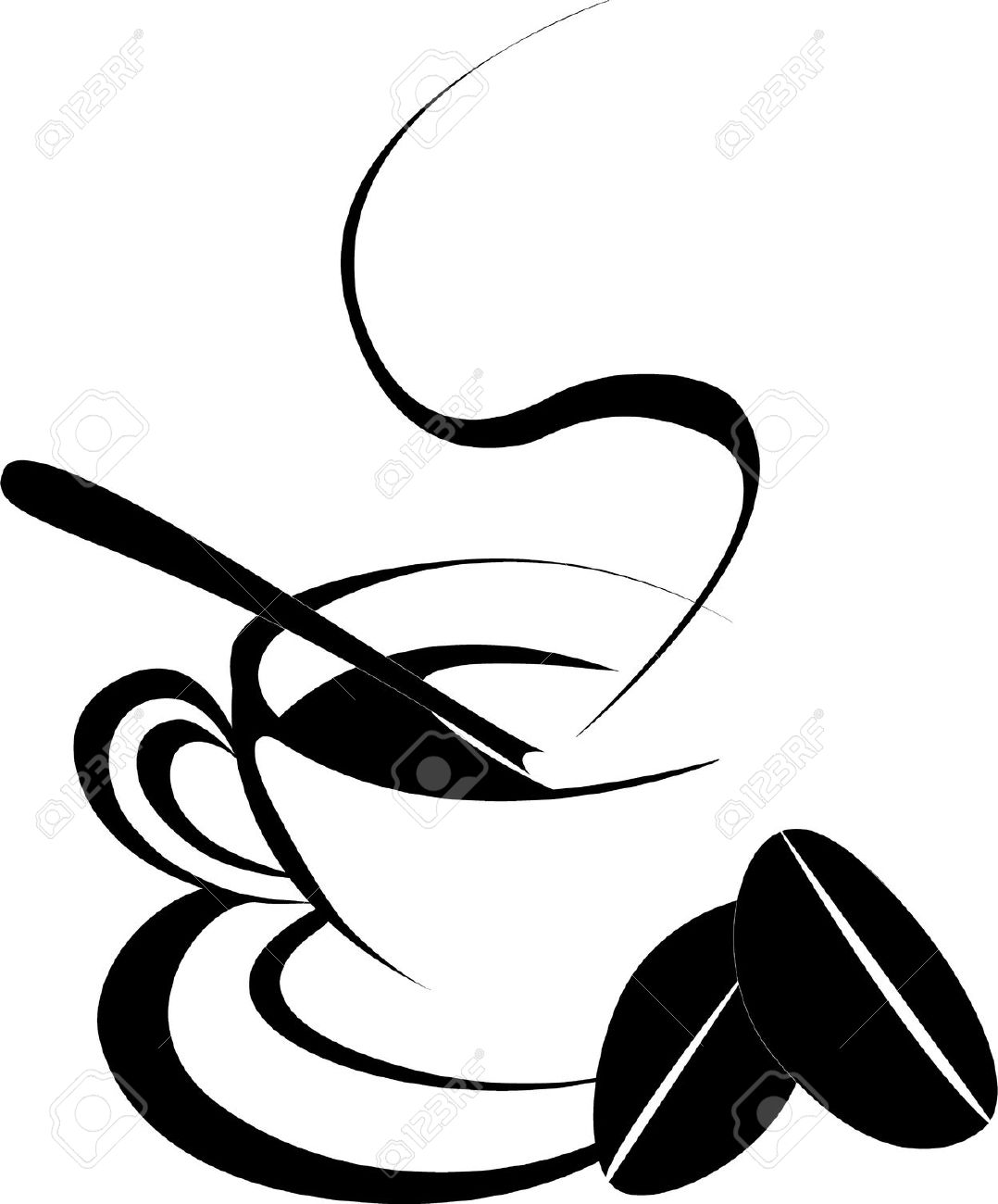 Coffee Bean Clipart Black And White | Free download on ...