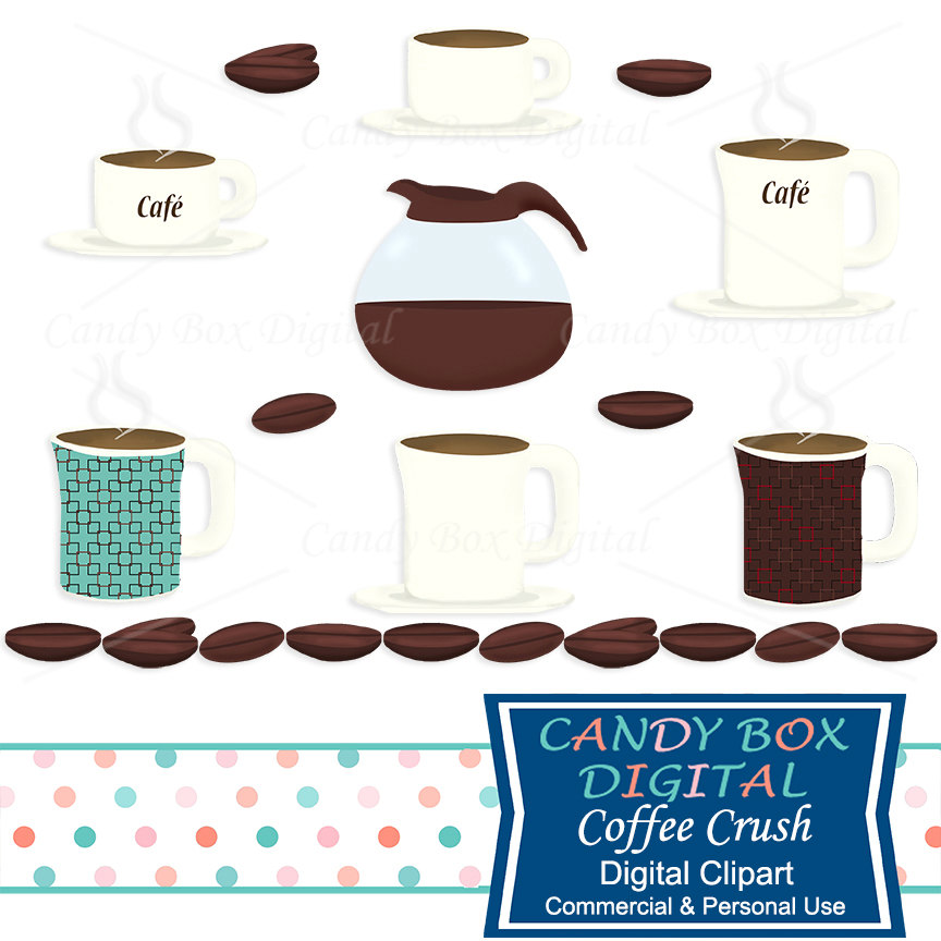 864x864 Coffee And Coffee Bean Clipart, Coffee Cup And Coffee Pot Clip Art