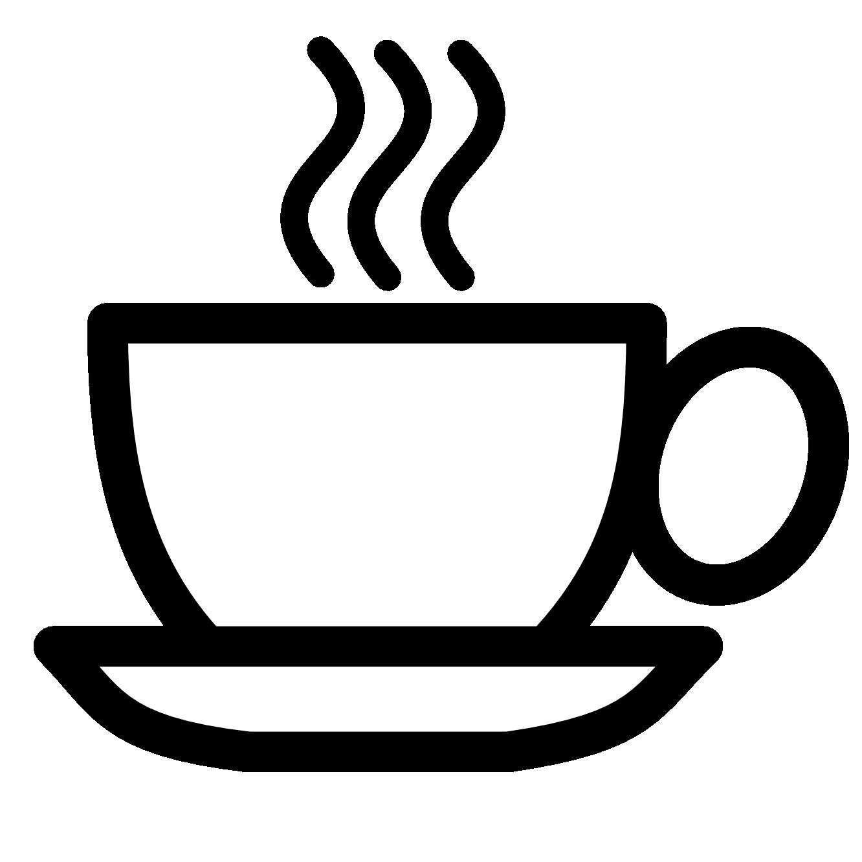1332x1332 Coffee Clip Art Black And White Clipart Panda