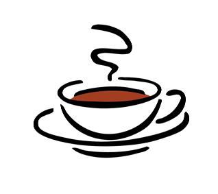 318x283 Coffee Cup Clip Art Black White Free Clipart Images 3