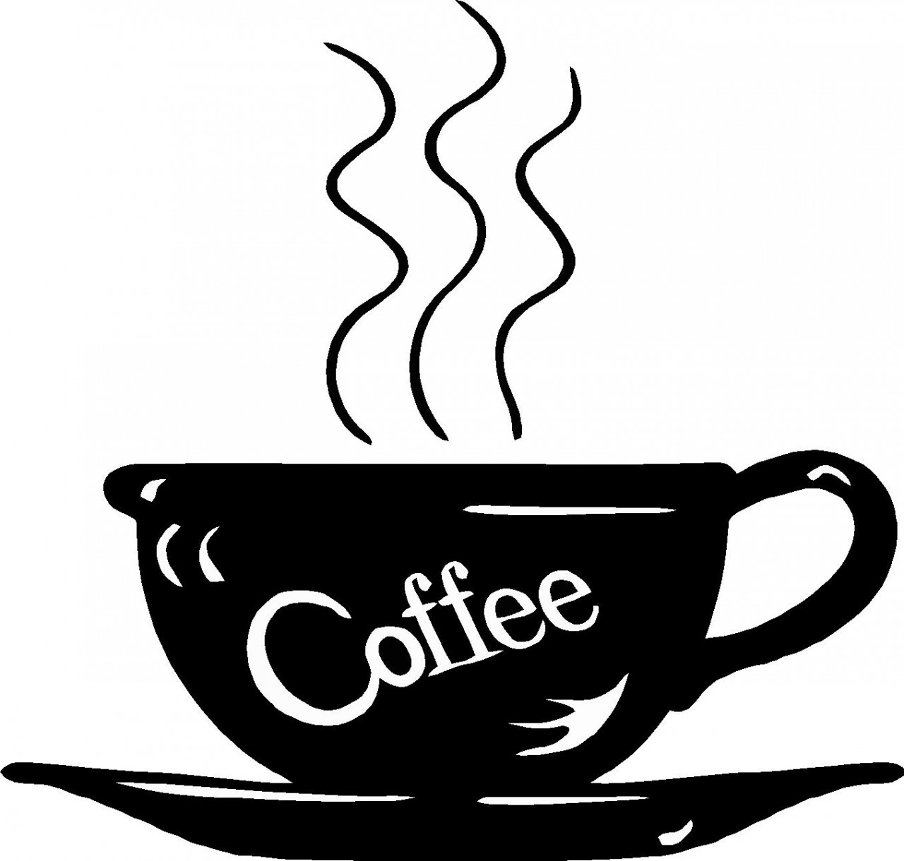 1280x1220 Coffee Cup Cup Clip Art Black And White Danaspda Top