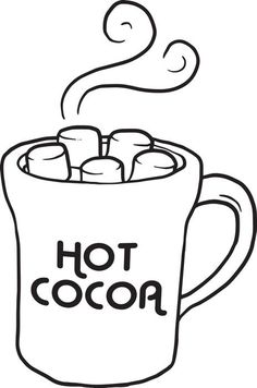 236x356 Hot Chocolate Clipart Black And White