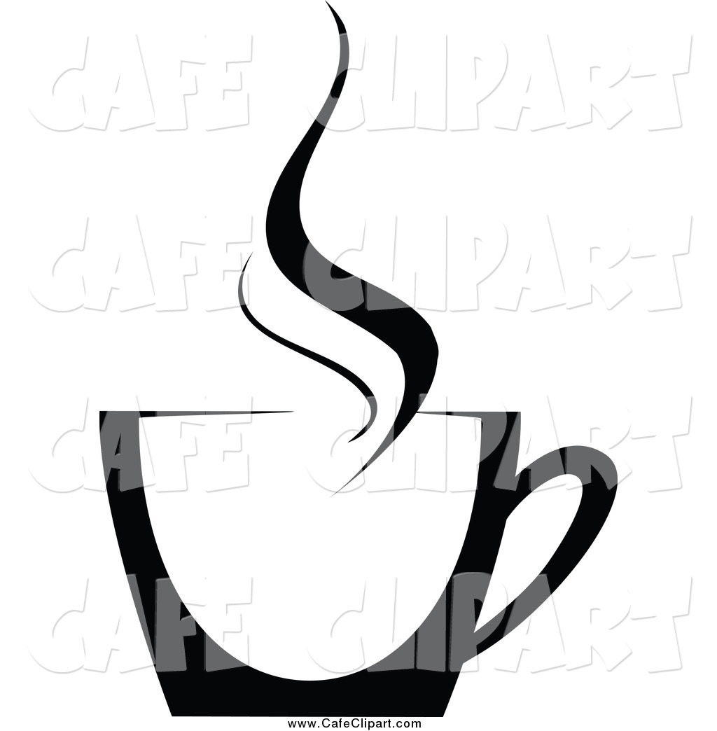 1024x1044 Vector Clip Art Of A Black And White Steamy Cup Of Coffee By