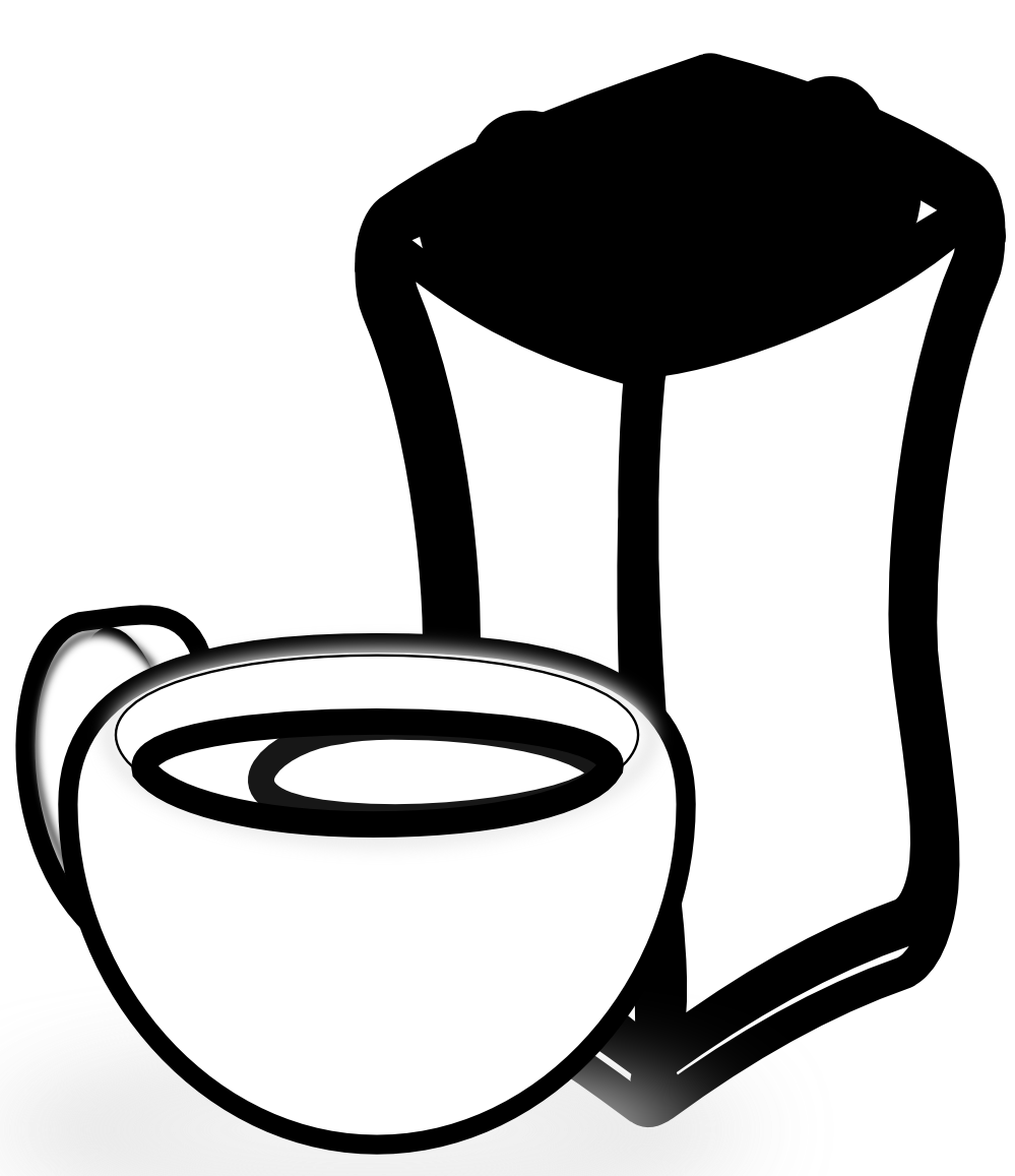 999x1157 Clip Art Cup Of Coffee With Sack Of Coffee