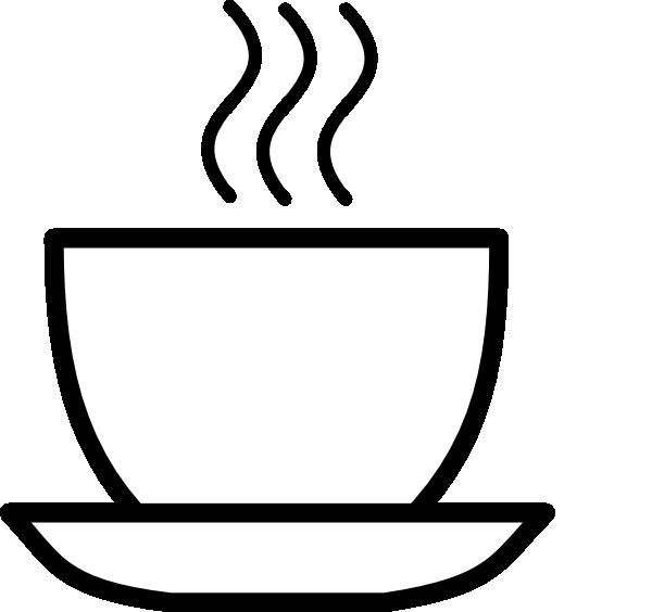 600x564 Black And White Coffee Clip Art