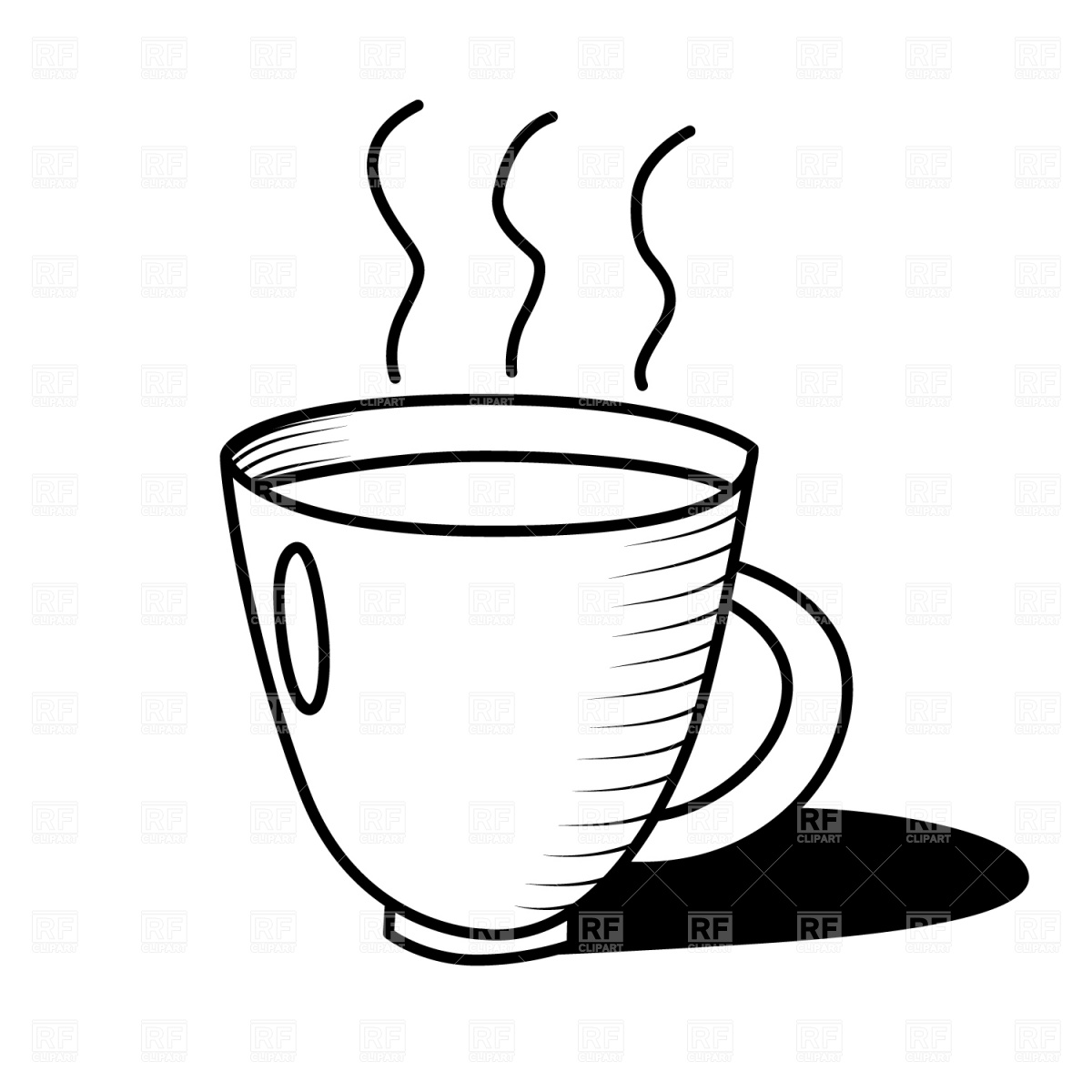 1200x1200 Black Amp White Clipart Coffee Cup