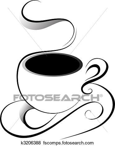 370x470 Clip Art Of Coffee K3206388