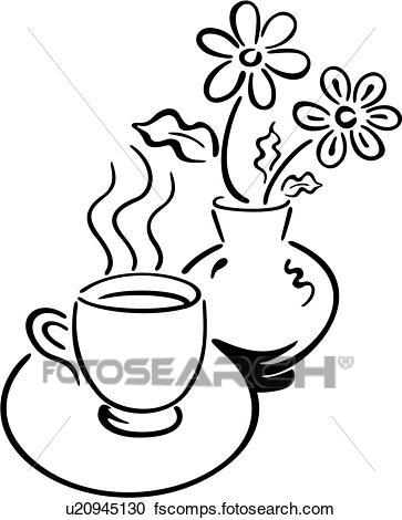 363x470 Clipart Of , Coffee, Cup, Drink, Java, U20945130