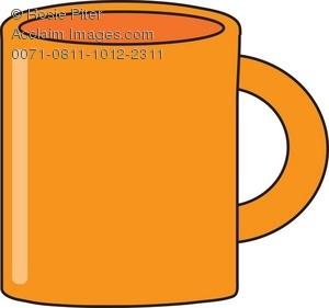 300x281 Royalty Free Clipart Illustration Of A Orange Coffee Mug