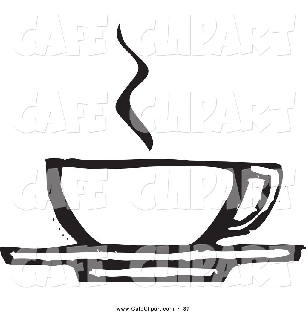 1024x1044 Vector Clip Art Of A Steaming Coffee Cup On A Saucer Black