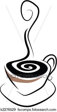 240x470 Clip Art Of Coffee Cup K2276529