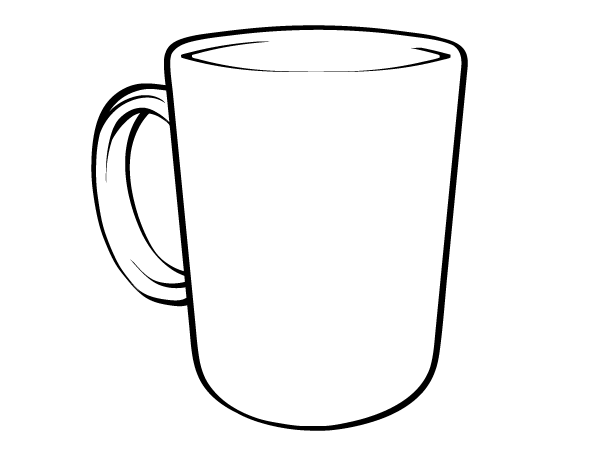 600x450 Coffee Mug Clipart Black And White Collection