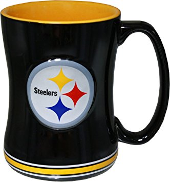 332x355 Pittsburgh Steelers 14 Ounce Sculpted Logo Relief