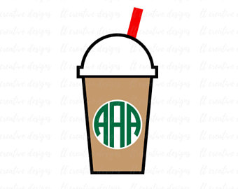 340x270 Coffee Svg Frappe Clip Art Monogram