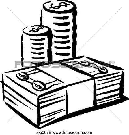 Coin Clipart Black And White
