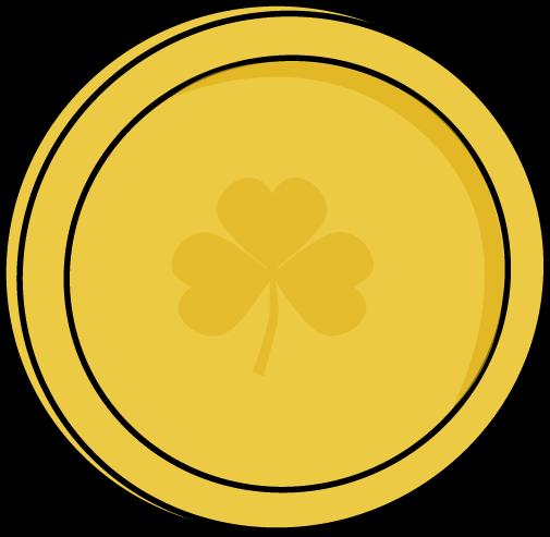 505x493 Single Gold Saint Patrick's Day Coin Clip Art