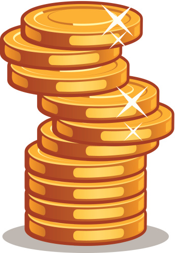 344x498 Coin Clipart Stack Coin