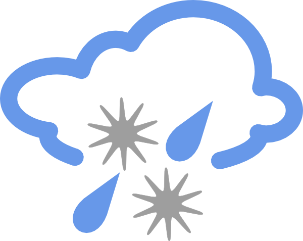 600x477 Hail And Rain Weather Symbol Clip Art