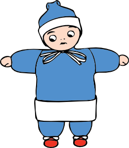261x299 Snow Child Clip Art
