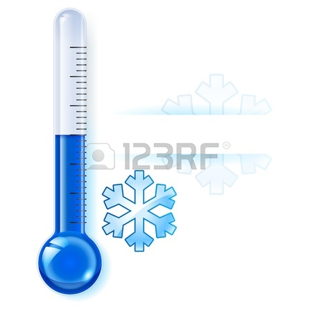 450x450 Thermometer By Seasons. Winter. Illustration On White Royalty Free