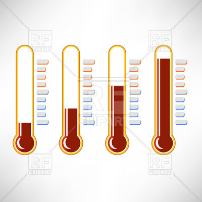 400x400 Set Of Thermometer Icons Royalty Free Vector Clip Art Image