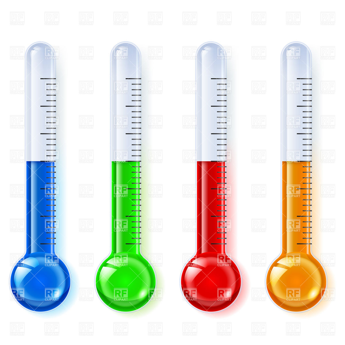 1200x1200 Temperature Indicators, Thermometer Royalty Free Vector Clip Art