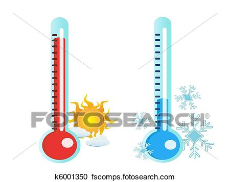 450x357 Clipart Of Thermometer In Hot And Cold Temperature K6001350