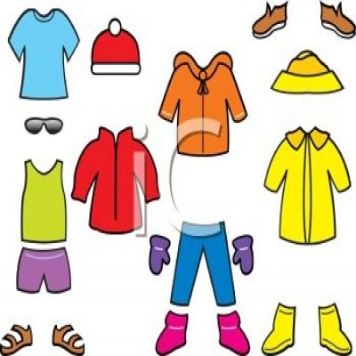 400x400 Cold Weather Clothes Clipart
