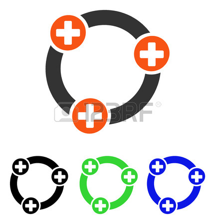 431x450 Medical Collaboration Vector Icon. Illustration Style Is A Flat