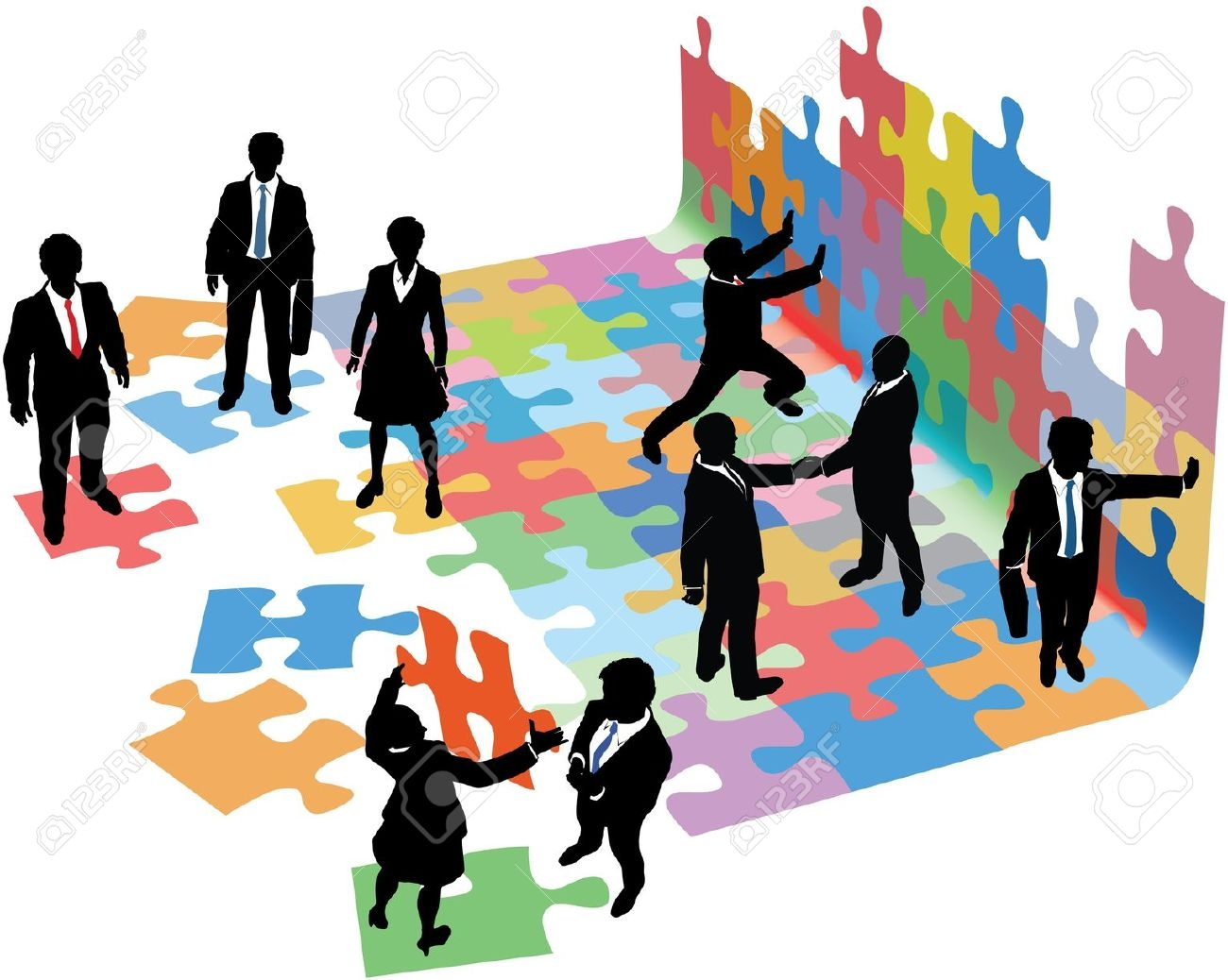 1300x1038 Business Clipart Business Collaboration