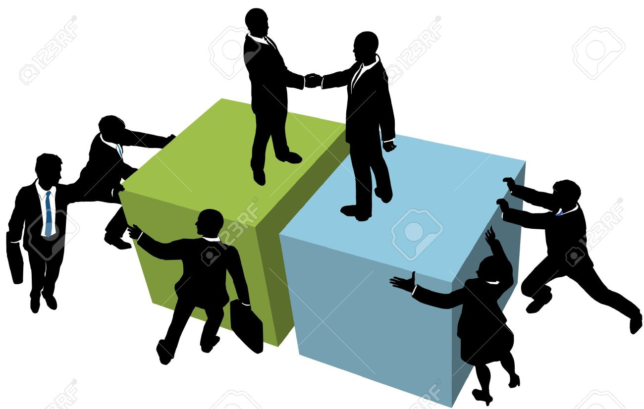 1300x826 Business Team Help Facilitate Company Deal Partnership Merger