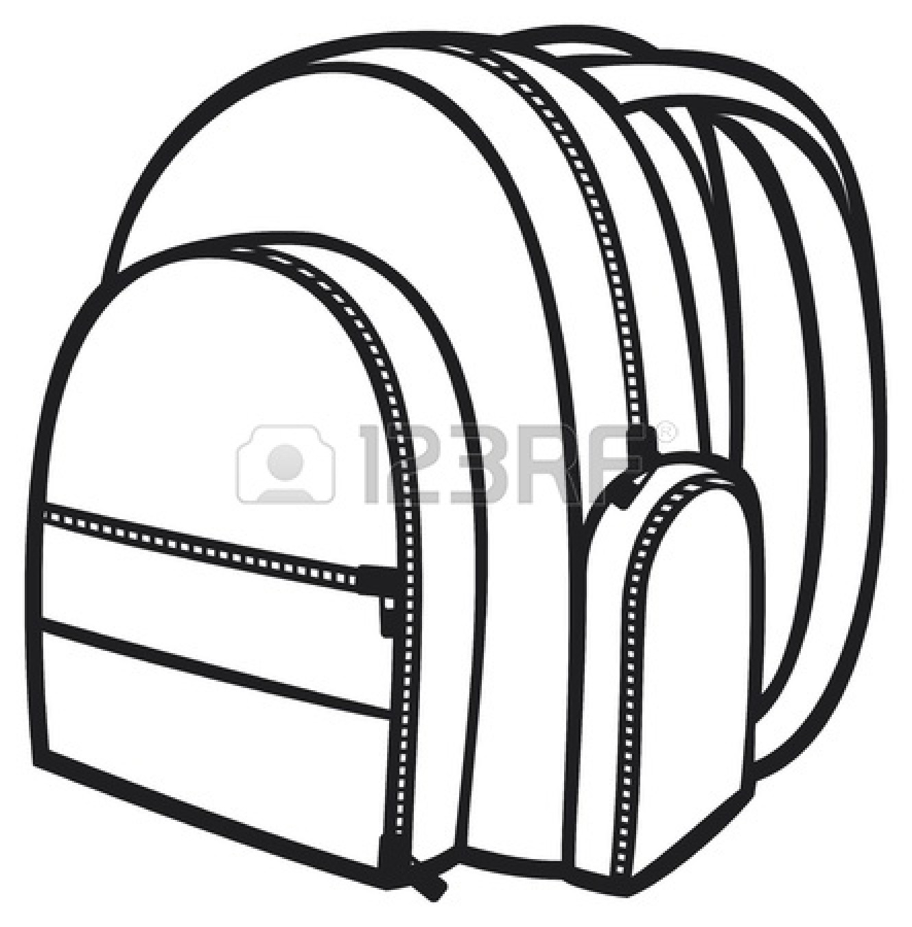 1329x1350 Backpack Black And White Clipart