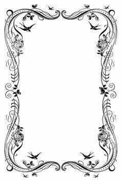 236x351 Free Black Clip Art Borders And Frames Weddings Custom Vintage