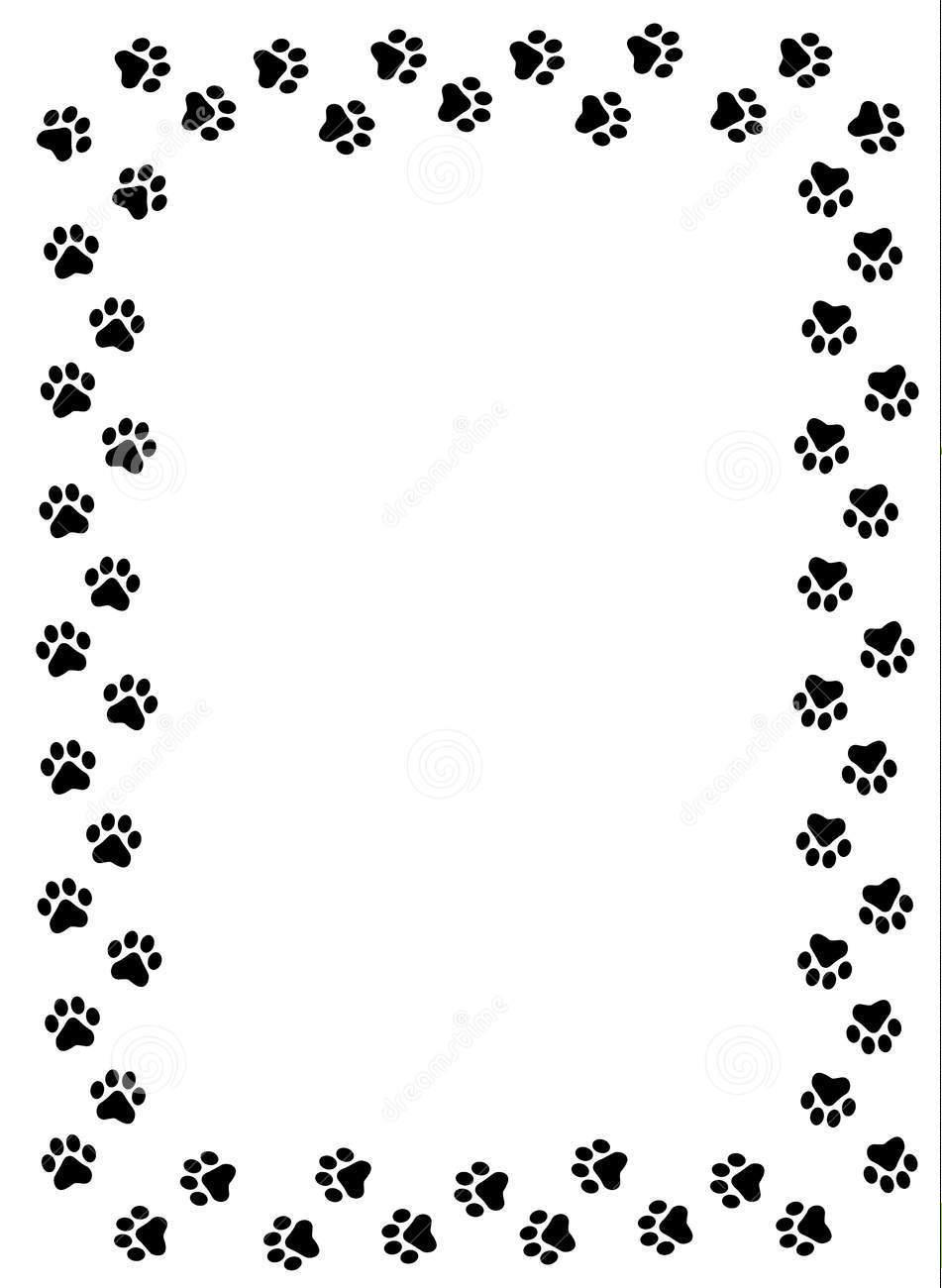 951x1300 Puppy Border Clipart