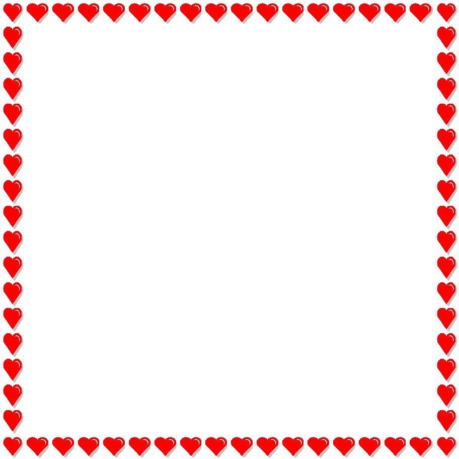 912x912 Red Heart Borders Clipart