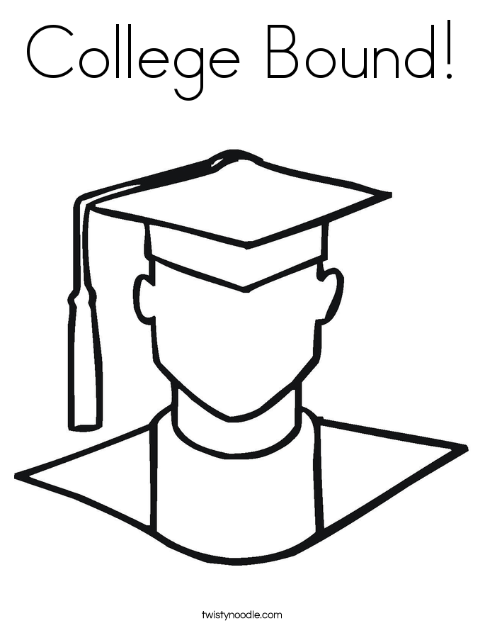 685x886 College Bound Coloring Page